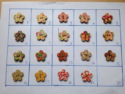 Flower Needle Minders (wooden) Set B